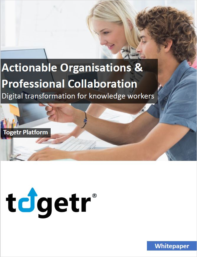 Actionable Organisations and Professional Collaboration